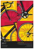 Cycling Poster. Cycling Bicycle Poster Vector Illustration stock illustration