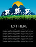 Cycling poster design Stock Photos
