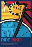 Cycling Poster Design Template. Vector Illustration vector illustration