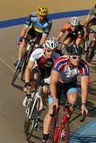 Cycling on the pro track Royalty Free Stock Photo