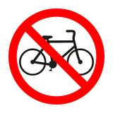 Cycling is prohibited illustration. Riding bike is not allowed image. Bicycles are banned. vector illustration