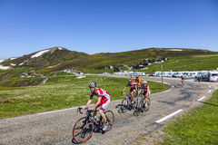 Cycling in Pyrenees Royalty Free Stock Images