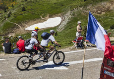Cycling in Pyrenees Royalty Free Stock Photography