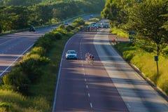 Cycling Race Break Pe-leton Stock Photography