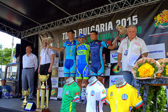 Cycling race ceremony Royalty Free Stock Images
