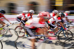 Cycling race. CRACOW, POLAND - AUGUST 8: Cycling race Tour de Pologne 2015 in the streets of Cracow city in Poland on August 8, 2015 Royalty Free Stock Image