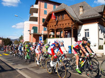 Cycling race Grand Prix of Lugano in 2015 Stock Photos