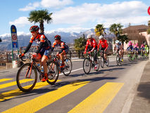 Cycling race Grand Prix of Lugano in 2015 Royalty Free Stock Photos