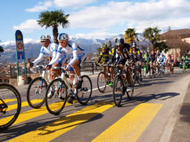Cycling race Grand Prix of Lugano in 2015 Royalty Free Stock Images