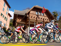 Cycling race Grand Prix of Lugano in 2015 Royalty Free Stock Photo
