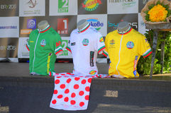 Cycling race jerseys Royalty Free Stock Images