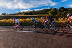 Cycling Race Leaders Hill Climb Royalty Free Stock Image