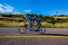 Cycling Speed Blur Tandem  Royalty Free Stock Photos