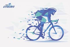 Cycling race stylized backgrond with motion color effects of tir Royalty Free Stock Images
