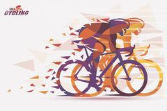 Cycling race stylized background Royalty Free Stock Image