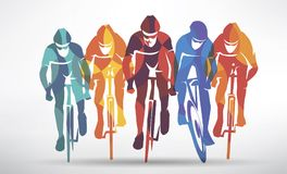 Cycling race stylized background Royalty Free Stock Photos
