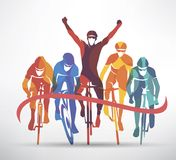 Cycling race stylized background Royalty Free Stock Images