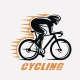 Cycling race stylized symbol royalty free stock image