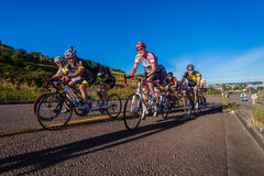 Cycling Race Tandem Teams Durban  Royalty Free Stock Photography