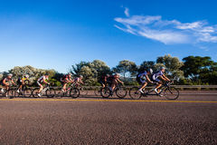 Cycling Race Tandem Singles Hill Royalty Free Stock Images