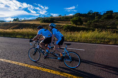 Cycling Race Tandem Man Woman Durban Classic Stock Photos