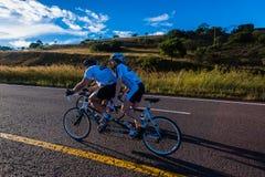 Cycling Race Tandem Man Woman Durban Classic Stock Photos