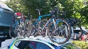 Cycling race Tour de Pologne in the Częstochowa city. Stock Photo