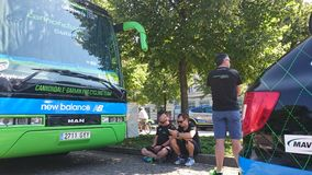 Cycling race Tour de Pologne in the Czestochowa city. Stock Image