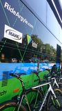 Cycling race Tour de Pologne in the Czestochowa city. Stock Photos