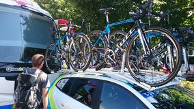 Cycling Race Tour De Pologne Czstochowa City Royalty Free Stock Images