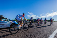 Cycling Race Women Leaders Climb Royalty Free Stock Images