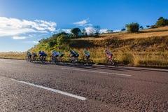 Cycling Racers Hill Climb  Royalty Free Stock Photos