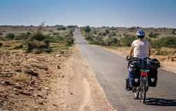 Cycling in Rajasthan stock photo