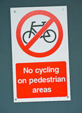 Cycling restriction. Royalty Free Stock Photos