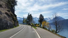 Cycling. Road cycling in beautiful scenery Stock Photography