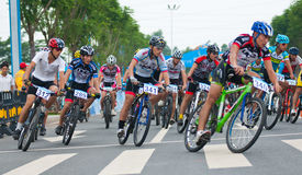 Cycling road race Stock Images