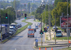 Cycling road race,Varna Bulgaria Royalty Free Stock Image