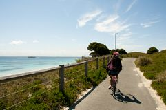 Cycling on Rottnest Island. Australia Royalty Free Stock Images