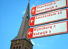 Cycling routes, Netherlands Royalty Free Stock Photography