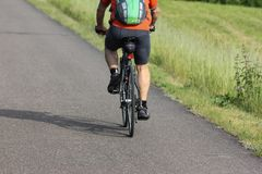 cycling and running fitness royalty free stock photos