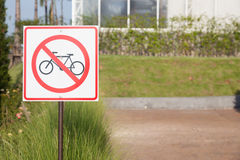 Cycling Safety Signs Stock Images