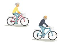 Cycling senior couple Royalty Free Stock Images