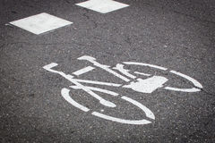Cycling sign Royalty Free Stock Photography