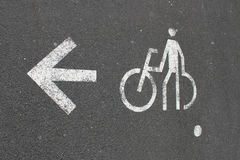 Cycling Sign. Painted on the road Stock Image
