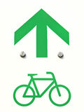 Cycling sign Royalty Free Stock Photos