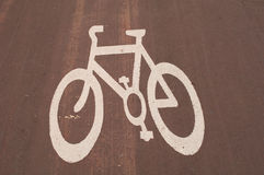 Cycling Sign. Painted on the road Royalty Free Stock Images
