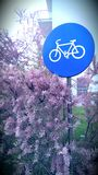 Cycling sign Stock Images