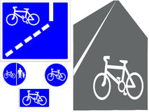 Cycling signs Royalty Free Stock Photos