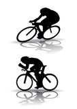 Cycling Silhouette Royalty Free Stock Photo