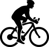 Cycling Silhouette. Man on a bike Cycling Silhouette vector illustration
